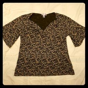 Nine & Co. 3/4-Length Sleeve Lined Shirt (XL)